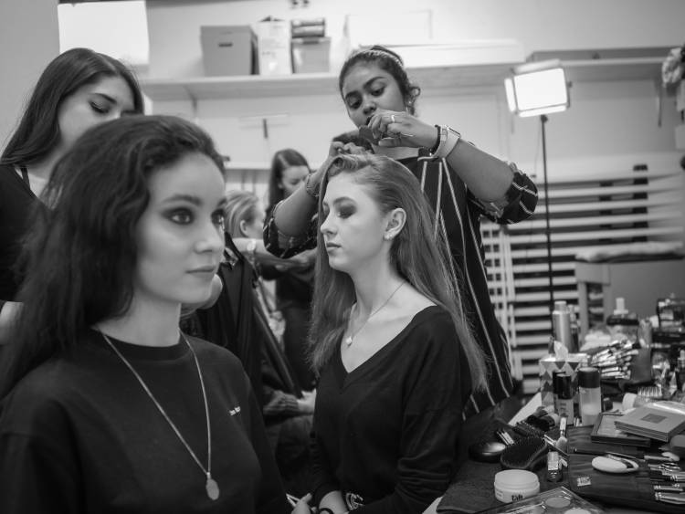 Fashionshow Christoph Marti Backstage